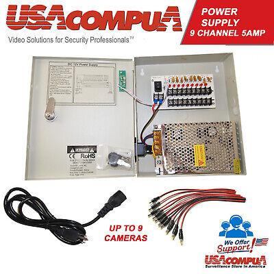 8 CH POWER SUPPLY BOX AUTO-RESED CCTV  9 PORTS 12V  FOR  CAMERA