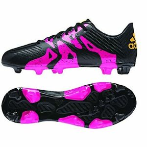 low priced d95eb ab3b5 Details about adidas X 15.3 TRX FG / AG 2015 Soccer Shoes Cleats New Black  - Pink Kids Youth