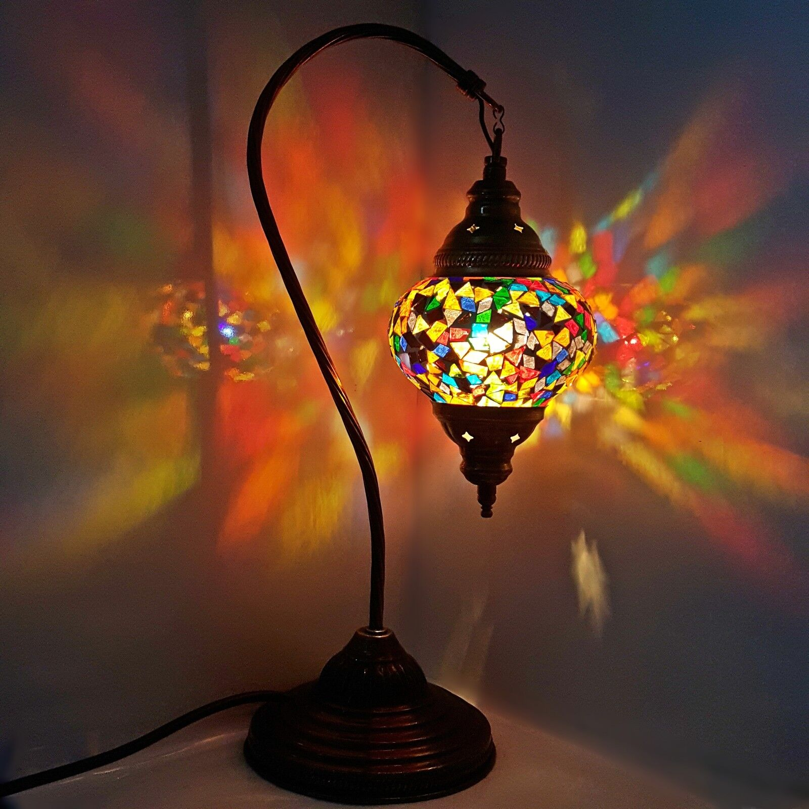 turkish marokkanische bunt lampen licht tiffany glas. Black Bedroom Furniture Sets. Home Design Ideas