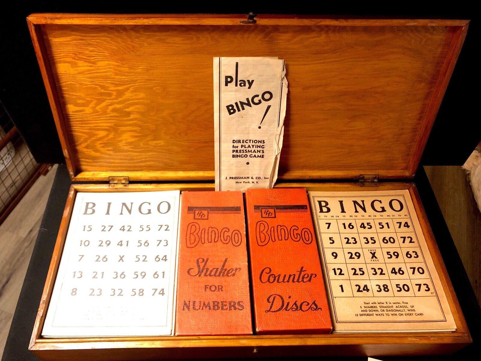 punto de venta Vintage Pressman Juego de de de Bingo  marcas en línea venta barata