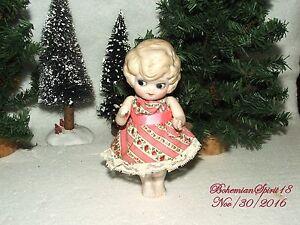 Sensible Antique Japan Bisque Frozen Charlotte Jointed Arms Vintage Dress Miniature Doll A Complete Range Of Specifications Antique (pre-1930)