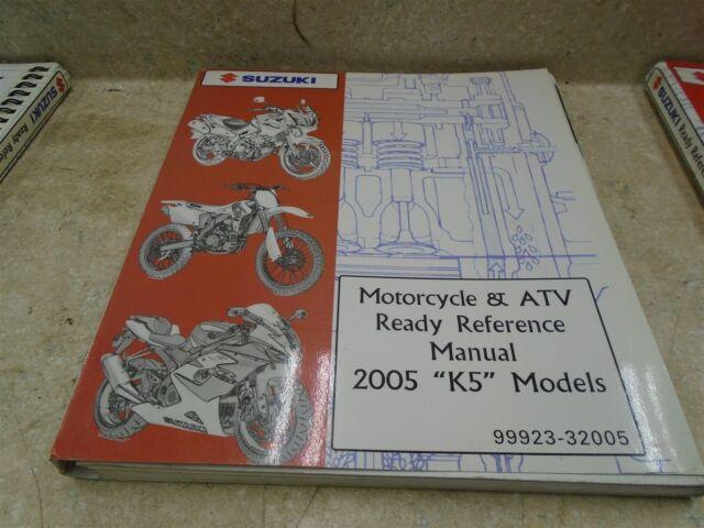 Suzuki Wiring Diagram Used Manual 2005 K5 Models Sr