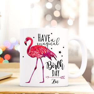 Tasse Becher Geburtstag Flamingo Spruch Birthday Geschenk Namen Wunschname Ts685 Büro & Schreibwaren