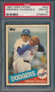 1985 Topps TIFFANY Baseball Fernando Valenzuela #440 PSA 10 DODGERS GEM MINT