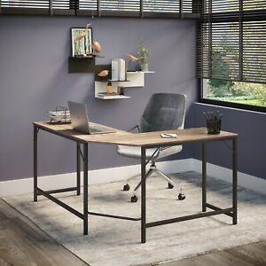 Large Corner Home Office Desk   Computer Study Table   Wooden Tabletop Furniture