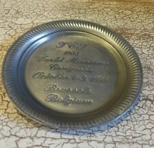 Small Pewter Dish 1988 World Missions Congress Brussels, Belgium EUC