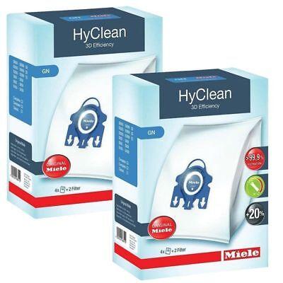 S 8999 4 Staubsaugerbeutel Miele GN HyClean 3D für Miele S 8000