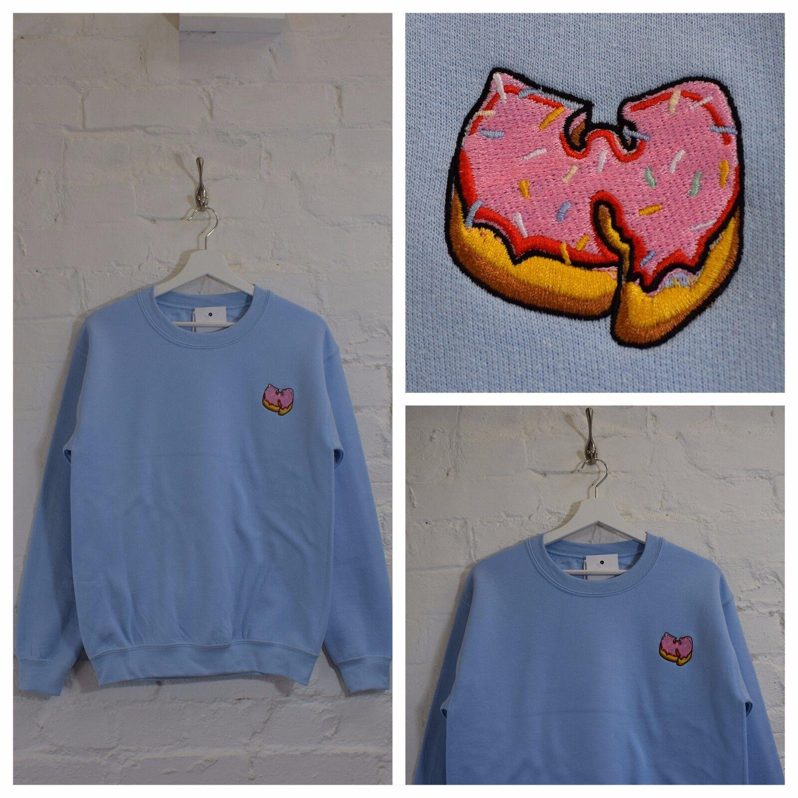 Actual Fact Wu x rosa donut azzurro azzurro azzurro GIROCOLLO HIP HOP FELPA 2ba8ef