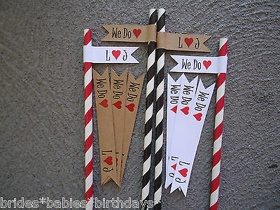 20 Flags Tags Personalised Wedding Birthday Party Flags for Straws Sparklers B5
