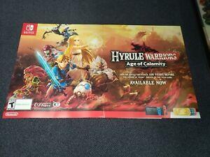 Zelda Hyrule Warriors Age Of Calamity Display Promo Poster Nintendo Switch 28x48 Ebay