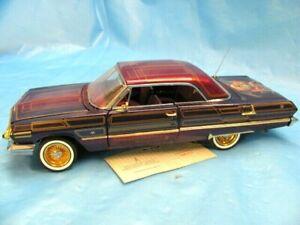 Franklin Mint 1963 Chevrolet Impala Lowrider 1:24 Scale Diecast Model w/Tag