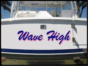 Custom Boat Lettering 2 Color Boat Name Decal Price