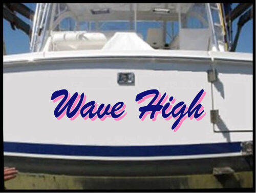 CUSTOM BOAT LETTERING PRICE REDUCED! 2-COLOR BOAT NAME DECAL