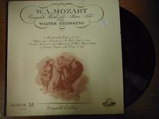 33 RPM Vinyl WA Mozart Complete Works for Piano Solo Angel Rec ANG35078 031115SM
