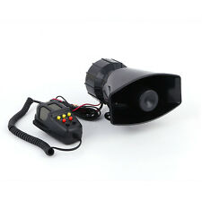 5 Sound Loud Car Warning Alarm Police Fire Siren Horn PA Speaker MIC System