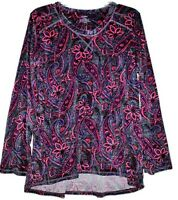 Women's Velour Fleece Tunic Top With Hi-low Hem & Thumb Holes - U Pick Color