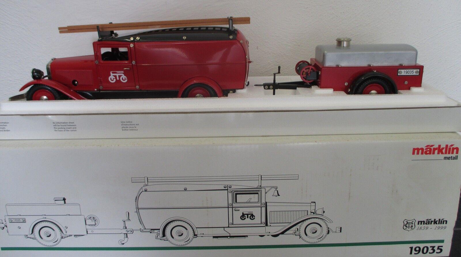 Märklin 19035 Coche a escala DE BOMBEROS Insider Modelo Condición Nuevo Limitado
