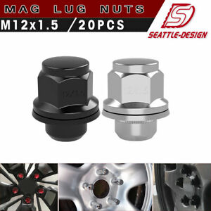 2005-2010 CHEVY CHEVROLET COBALT 12X1.5 BLACK LUG NUT COVERS FOR HUBCAPS 20
