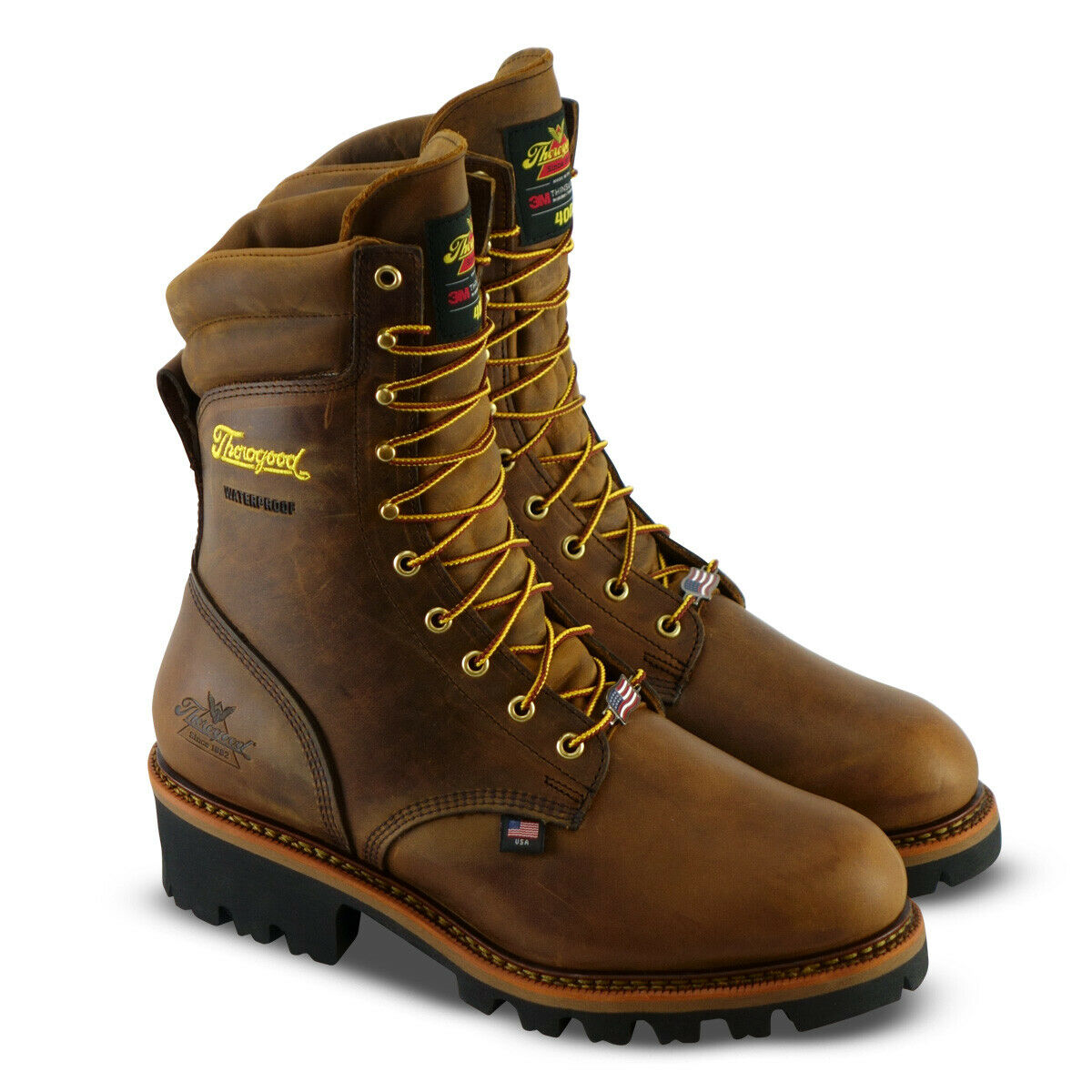 Homme Thorgood 9  Imperméable 400 g Steel Toe Lace Up Logger Travail Bottes 804-3554