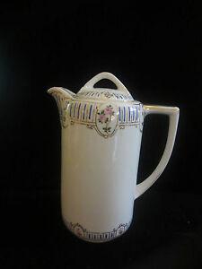 Vintage-Japanese-Nippon-Rising-Sun-Mark-Coffee-Tea-Chocolate-Pot-Hand-Painted