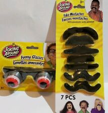 Joking Around Mustache Multipack Fake Adhesive Moustacheand Fake Facial Hair