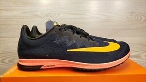 83e98f3ea35 Nike Air Zoom Streak LT 4 Dark Blue Orange Running Training 924514 ...