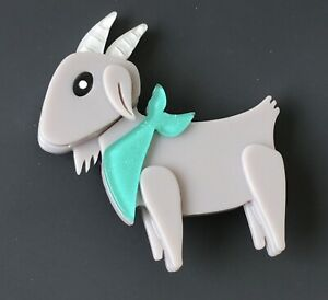 Unique-large-Goat-brooch-Pin-In-acrylic