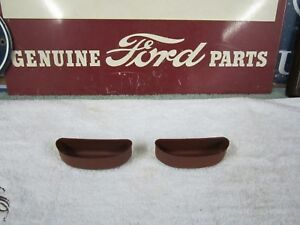 1957 Mercury 2Door Hardtop Front Door Panel Arm Rests Steel Inserts (Door Pulls)