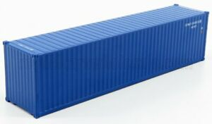 TRUESCALE 1/64 ACCESSORIES | CONTAINER 40' FOR TRAILER TRUCK | BLUE