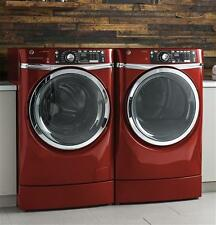 GE 4.9 cu.ft. Steam Red Washer & 8.3 cu.ft. Electric Steam Red Dryer--BRAND NEW!