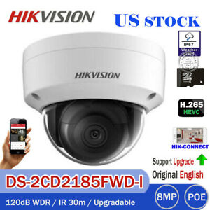 HIKVISION 8MP 4K DS-2CD2185FWD-I Dome IP POE Outdoor Security Camera H.265 2.8MM