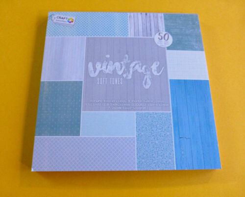 Hintergrundpapier Vintage Soft Tones 50Blatt Scrapbooking  Kartengestaltung