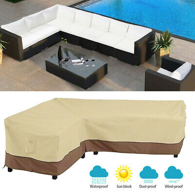 Outdoor Garden Patio Furniture Cover Protector L-Shape Sofa Cover  Waterproof | eBay