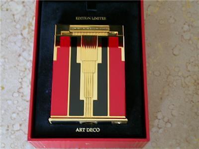 ST DUPONT ART DECO JEROBOAM TABLE LIGHTER - MINT!! RARE