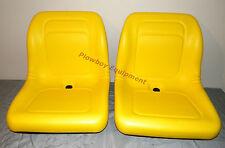2 Yellow Vinyl Seats For John Deere Gator Model E Gator Cs Cx 4x4 Trail Hpx Te
