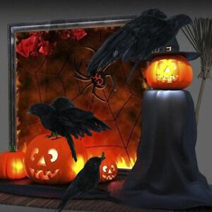 Black-3PC-Halloween-Crow-Bird-Raven-Bird-Artificial-Feathered-Simulation-Crows