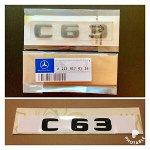 New-Mercedes-C63-Badge-Emblem-Decals-New-Style-Gloss-Black-Uk-Seller