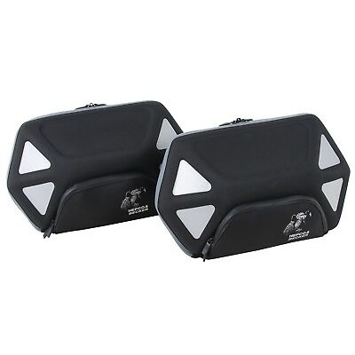 HEPCO AND BECKER Side Pannier Set Royster - Black with Gray Zipper for C-Bow