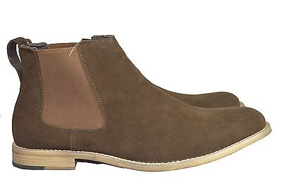 New Men's Pu Suede Desert Ankle Chelsea Brown Boots SIZE 6-12