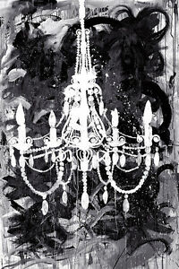 Chandelier black and white art poster print by kent youngstrom chandelier black and white art poster print by aloadofball Choice Image