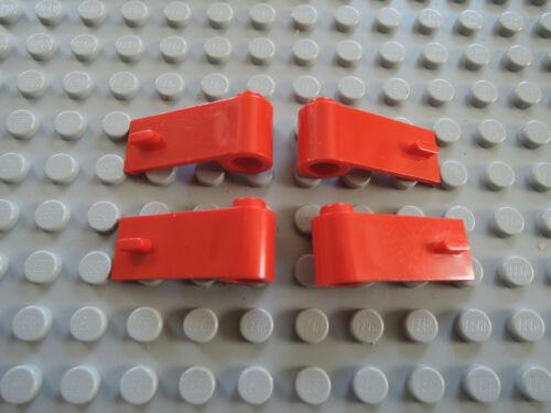 LEGO 10 X Porte 1x3x1 droite gauche rouge 3821 3822