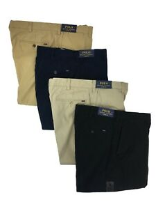 Polo-Ralph-Lauren-Mens-Classic-Fit-Flat-Front-Chino-Big-and-Tall-Khaki-Pants-New