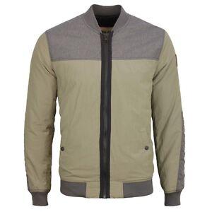 Details zu Garcia Herren Bomber Übergangs Jacke Olive grün grau Slim Fit A71100 2090