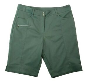 GG BLUE Womens Green Coolmax Shorts Golf Size 12 MED