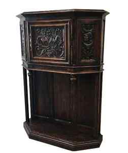 Image Is Loading French Antique Gothic Vestry Cabinet Server Antique  Furniture