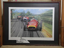 JUAN FANGIO the Maestro SIGNED Nicholas Watts Limited Ed Framed Print w/Remarque