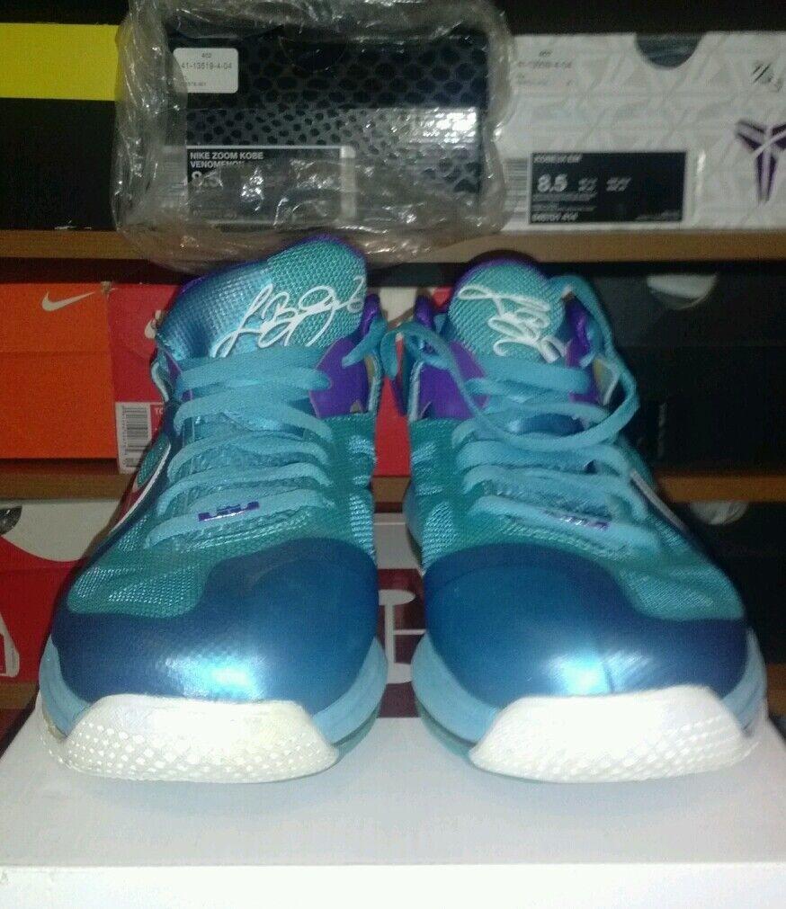 Nike LeBron 9 IX baja 8,5 Azul Hornets Zapatos Hombre 8,5 baja 0abe78