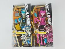 Monster High Day-to-Night Fashions Draculaura Frankie Stein lot 2 Dolls