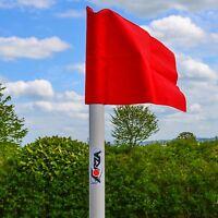 (4x) Uefa Football Corner Flags - Spring Loaded - 50mm Pole & Flag
