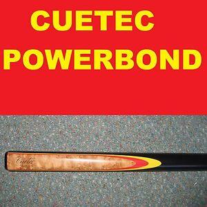 CUETEC-Pool-Snooker-Billiard-Cue-CUETEC-POWERBOND-Red-yellow-RRP-199-2019